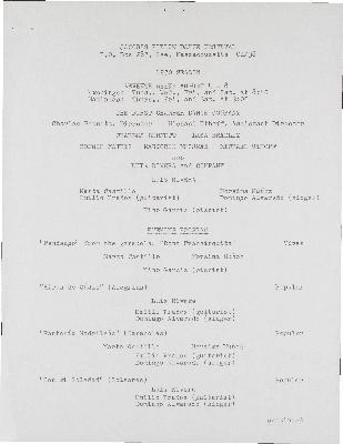 First Chamber Dance Company (Charles Bennett, Lisa Bradley, Janice Groman, Marjorie Mussman, Michael Uthoff); Luis Rivera & Company