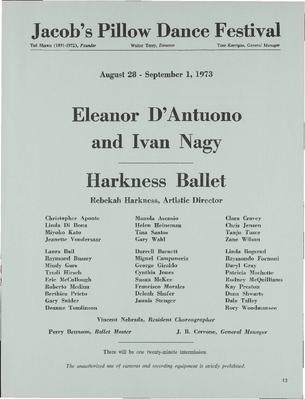 Eleanor D'Antuono and Ivan Nagy; Harkness Ballet