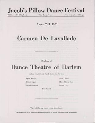 Carmen De Lavallade; Members of the Dance Theatre of Harlem