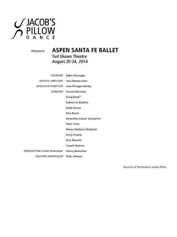 Aspen Santa Fe 2014 program