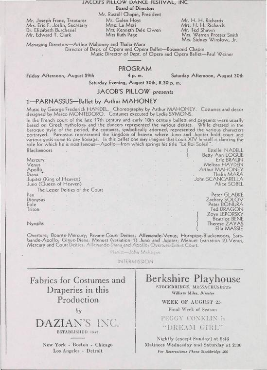 Ballet Repertory; Iva Kitchell