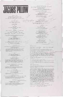 Performance program August 4-8, 1981