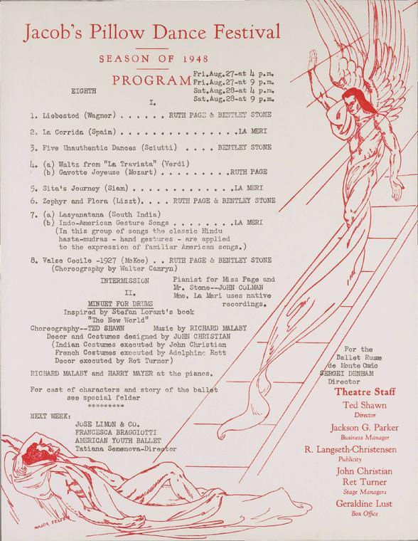 Ruth Page and Bentley Stone; Ted Shawn; La Meri
