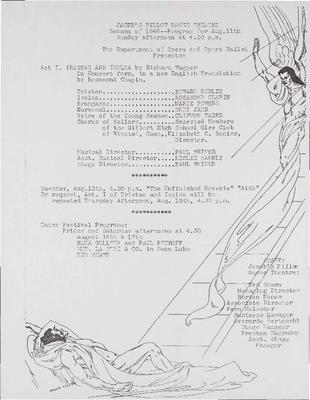 Jacob's Pillow Dance Theatre, Season of 1946 - Program for August 11th