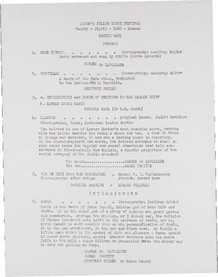 Eighth Week Program, 1960