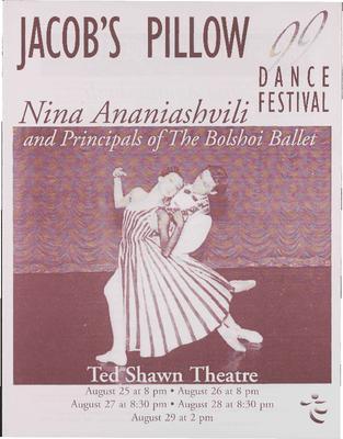 Nina Ananiashvili and Principals of the Bolshoi Ballet Performance Program 1999