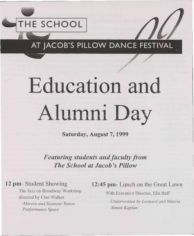 Education And Alumni Day Program 1999