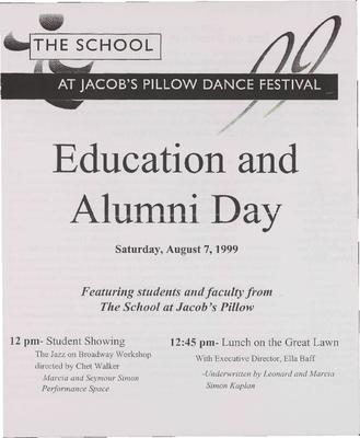 Education And Alumni Day Program 1999