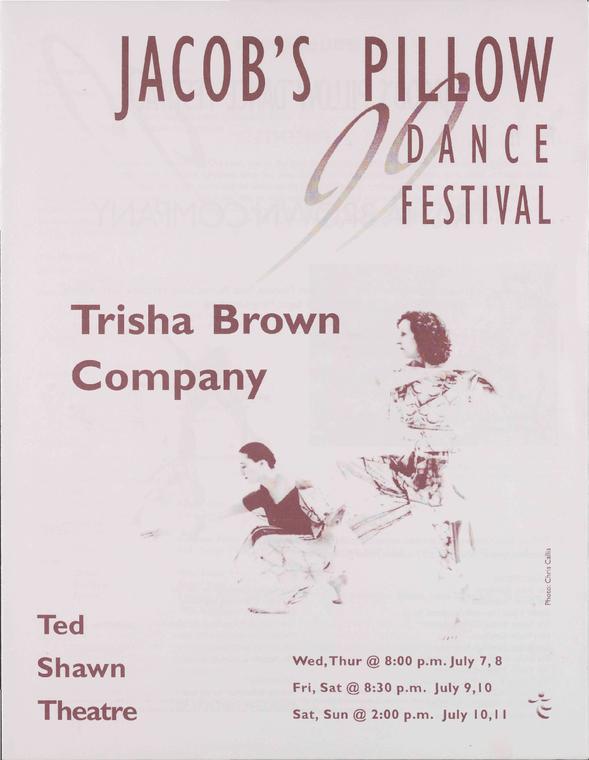 Trisha Brown Company Performance Program 1999