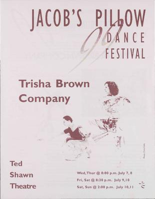 Trisha Brown Company Performance Program 1999