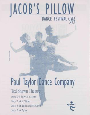 Paul Taylor Dance Company Performance Program 1998