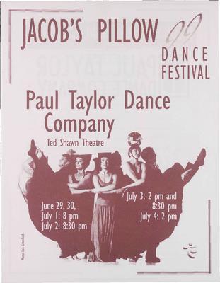 Paul Taylor Dance Company Performance Program