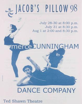 Merce Cunningham Dance Company Performance Program