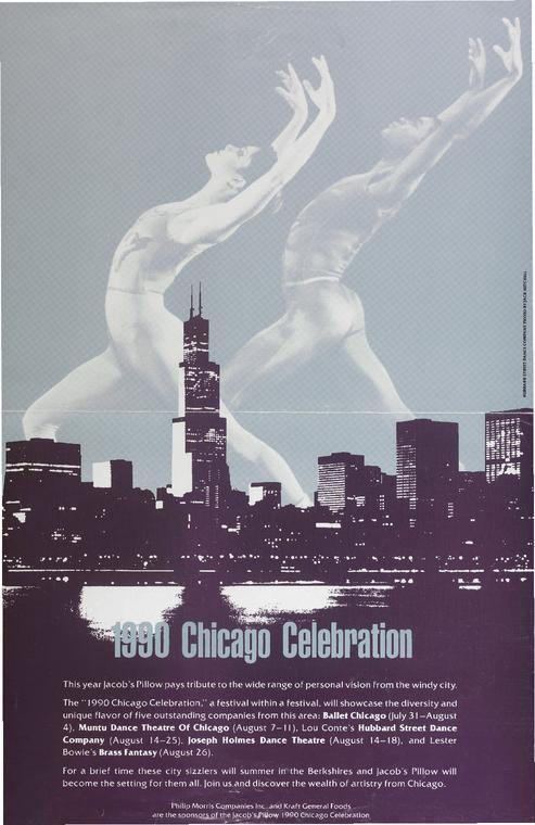 Hubbard Street Dance Company Performance Program 1990