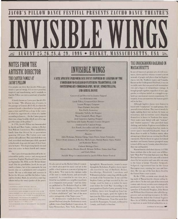 """""""Invisible Wings"""" Performance Program 1998"""