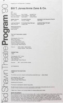 Bill T. Jones/Arnie Zane & Co. Performance Program
