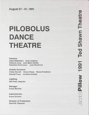 Pilobolus Dance Theatre Performance Program