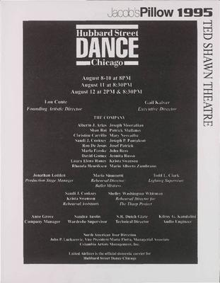 Hubbard Street Dance Chicago Performance Program A
