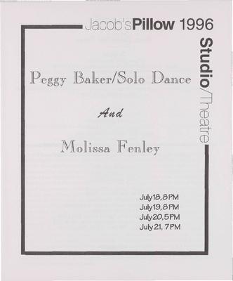 Peggy Baker and Molissa Fenley Performance Program