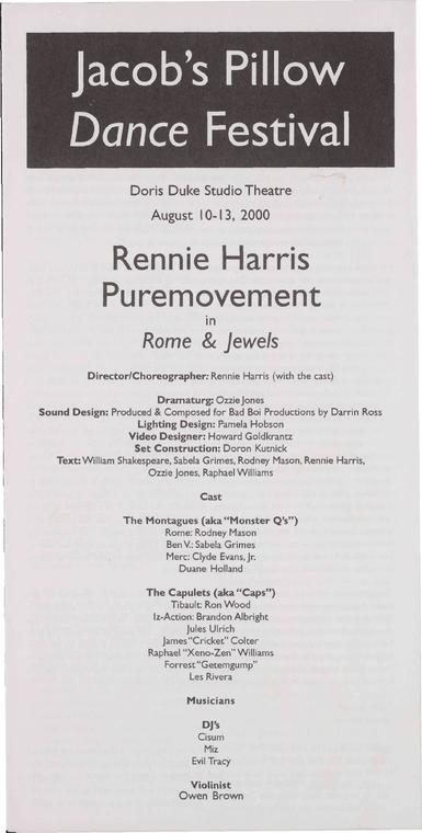 Rennie Harris Puremovement Performance Program 2000
