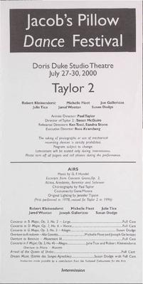 Taylor 2 Performance Program 2000