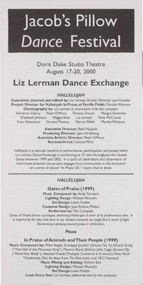 Liz Lerman Dance Exchange Performance Program 2000