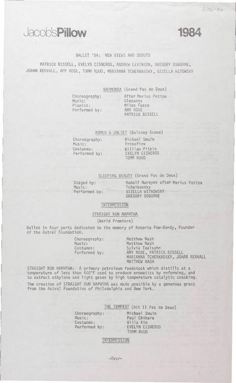 Ballet '84: New Views and Debuts