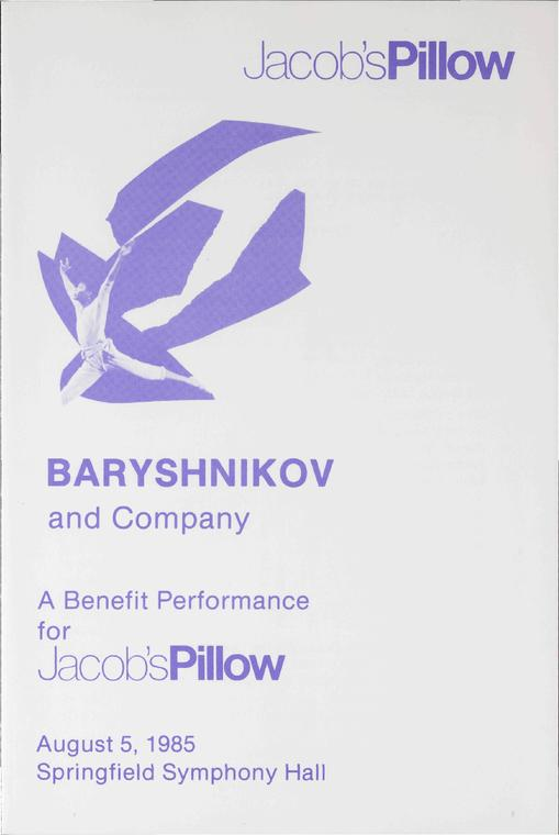 Baryshnikov And Company Performance Program 1985