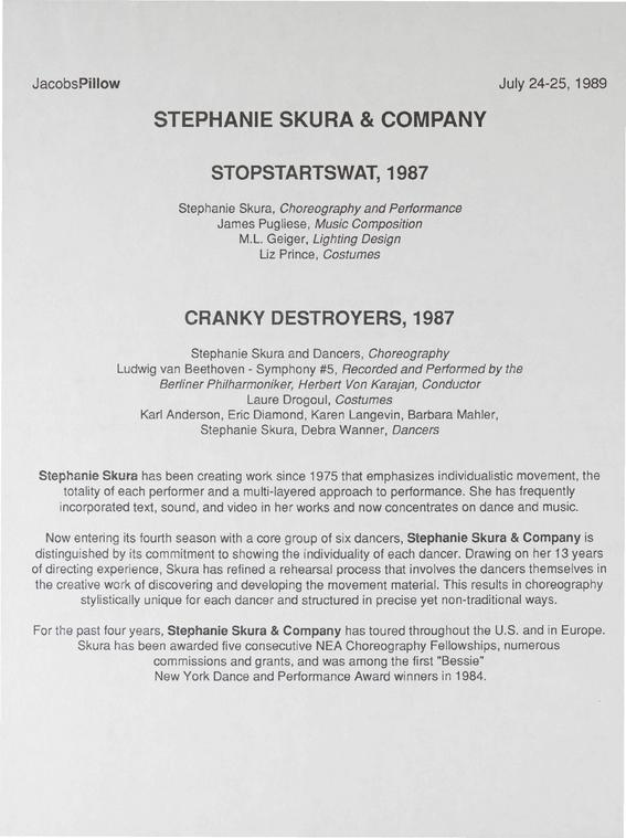 Stephanie Skura and Company Performance Program