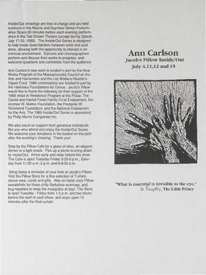 Inside/Out Performance Program 1989