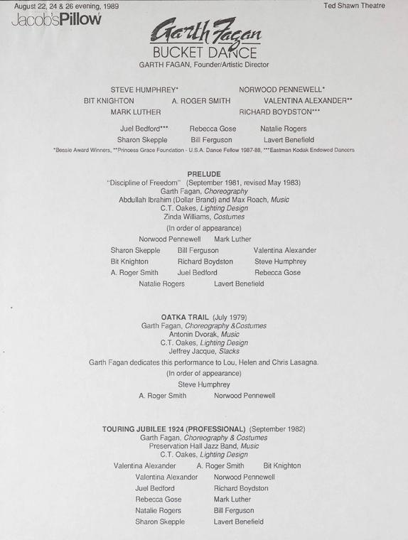 Garth Fagan Performance Program
