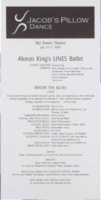 Alonzo King's LINES Ballet Performance Program