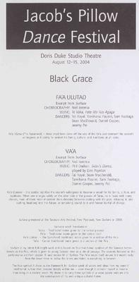 Black Grace Performance Program