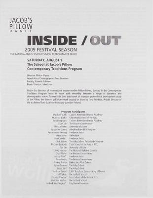 Contemporary Program: Inside/Out Performance Program