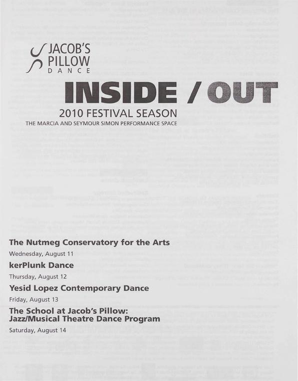Inside/Out Performance Program 2010