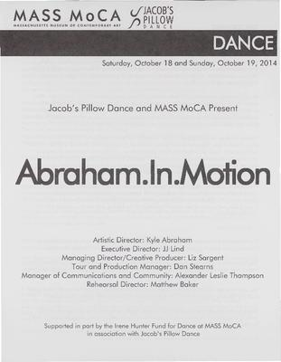 Abraham.In.Motion Performance Program 2014