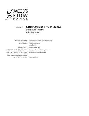 Compagnia TPO Performance Program 2014