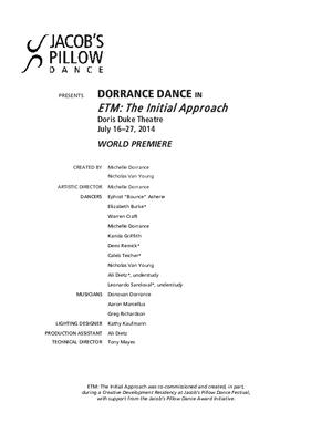 DorranceDance Performance Program 2014