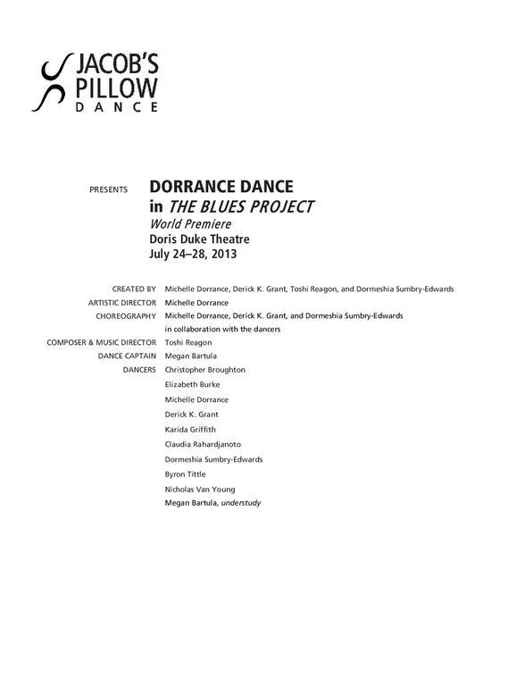 Dorrance Dance Performance Program 2013