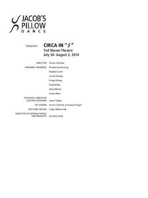 Circa Performance Program 2014