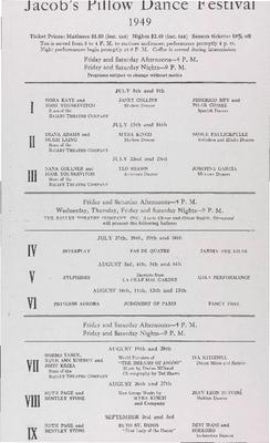 Festival Flyer 1949