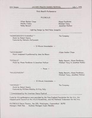 Gala Program 1978