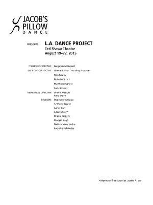 L.A. Dance Project Performance Program 2015