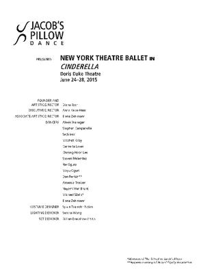 New York Theatre Ballet Performance Program 2015