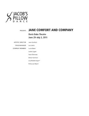 Jane Comfort and Company Program 2011