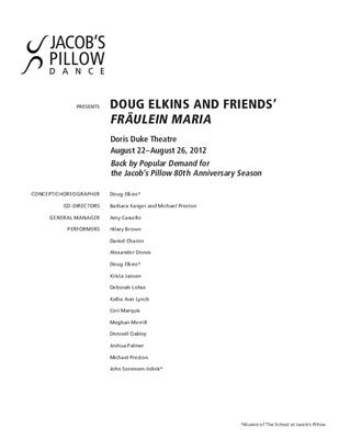 Doug Elkins and Friends Performance Program 2012