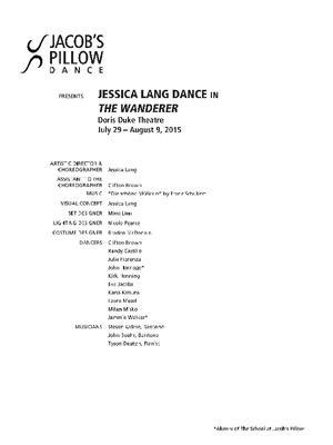 Jessica Lang Dance Performance Program