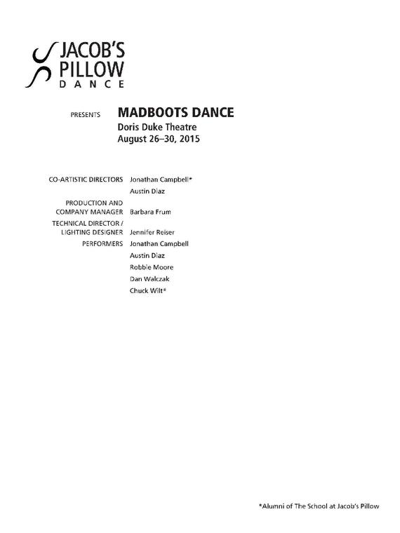 MADBOOTS Performance Program 2015