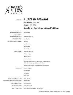 A Jazz Happening Performance Program 2012