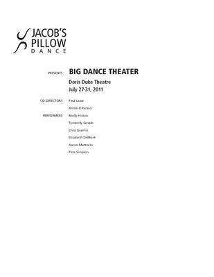 Big Dance Theater Program 2011
